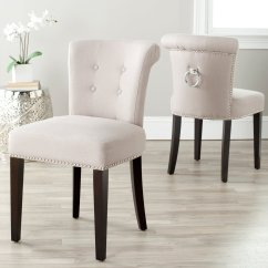 Safavieh Dining Chairs Bouncy Baby Chair Sinclair Ring Taupe Set Of 2 Walmart Com