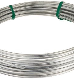 122062 galvanized solid utility wire 9 gauge 50 foot coil multi purpose wire ideal for workshop garden house and farm applications by hillman  [ 1500 x 866 Pixel ]