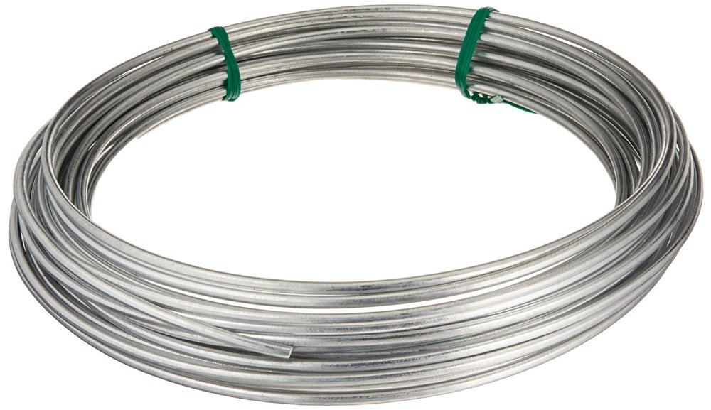 medium resolution of 122062 galvanized solid utility wire 9 gauge 50 foot coil multi purpose wire ideal for workshop garden house and farm applications by hillman