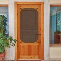 Instant Screen Door Cedar Solid Wood 2 Panel Interior Door ...