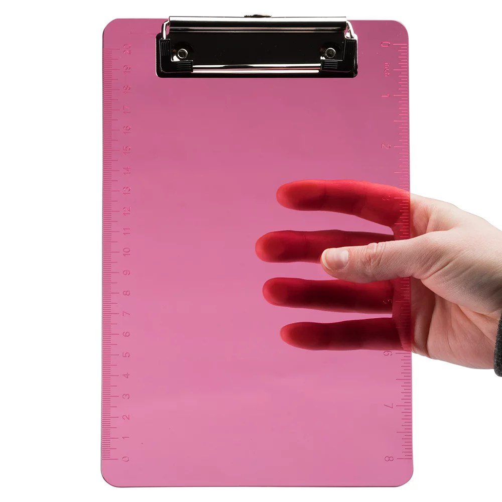 jam mini pink plastic clipboards with metal clip 6 x 9 1 pack