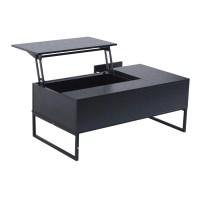 "HomCom 43"" Modern Lift-Top Coffee Table - Black - Walmart.com"