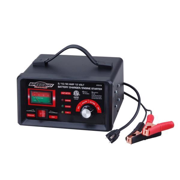 2 10 50 Amp 12 Volt Battery Charger Engine Starter Booster Automotive Car Boat 93184072154