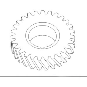 70230217 New Timing Gear w/ 27 Teeth For Allis Chalmers