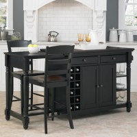 Home Styles Grand Torino Kitchen Island and 2 Stools ...