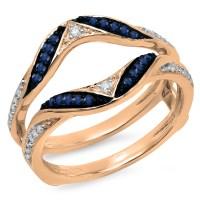 DazzlingRock - Dazzlingrock Collection 14K Round Blue ...