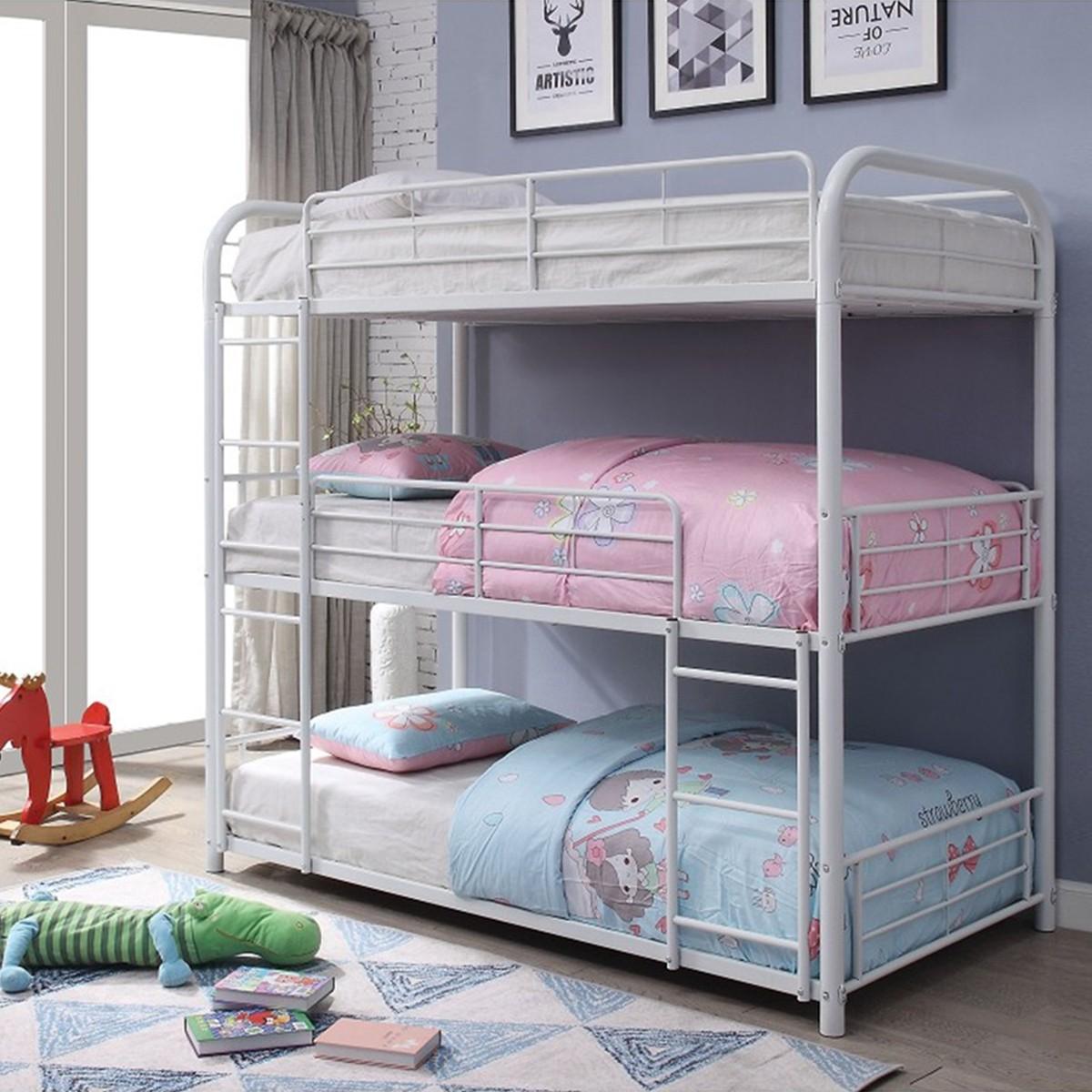 Triple Bunk Bed Metal Frame Novocom Top