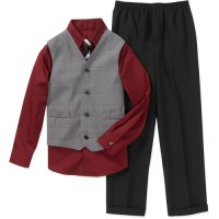 Boys' 4-Piece Shirt, Pants, Vest and Tie Set - Walmart.com