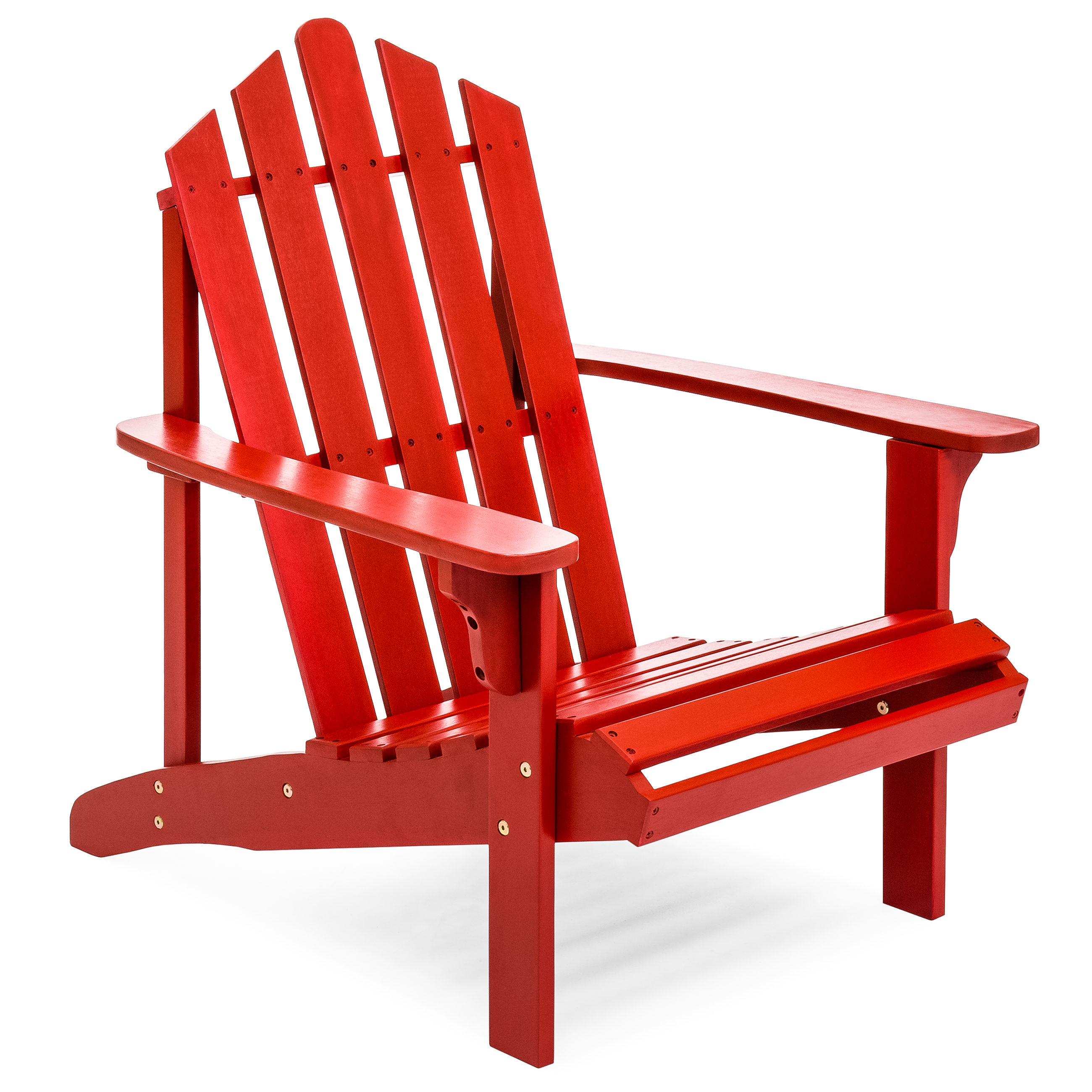 red adirondack chairs santa chair covers hobby lobby best choice products outdoor patio acacia wooden walmart com