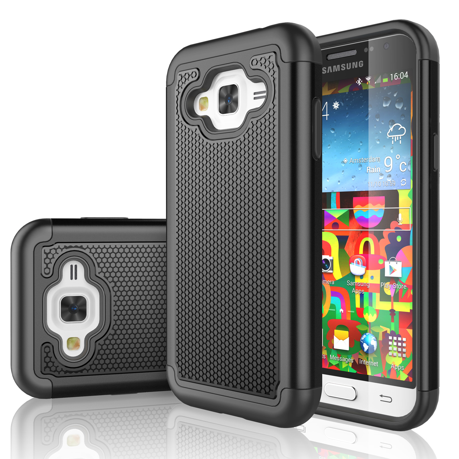 J7 Case. Galaxy J7 Case. Tekcoo [Tmajor Series] Shock Absorbing Hybrid Rubber Plastic Impact Defender Rugged Slim Hard Case Cover For Samsung ...