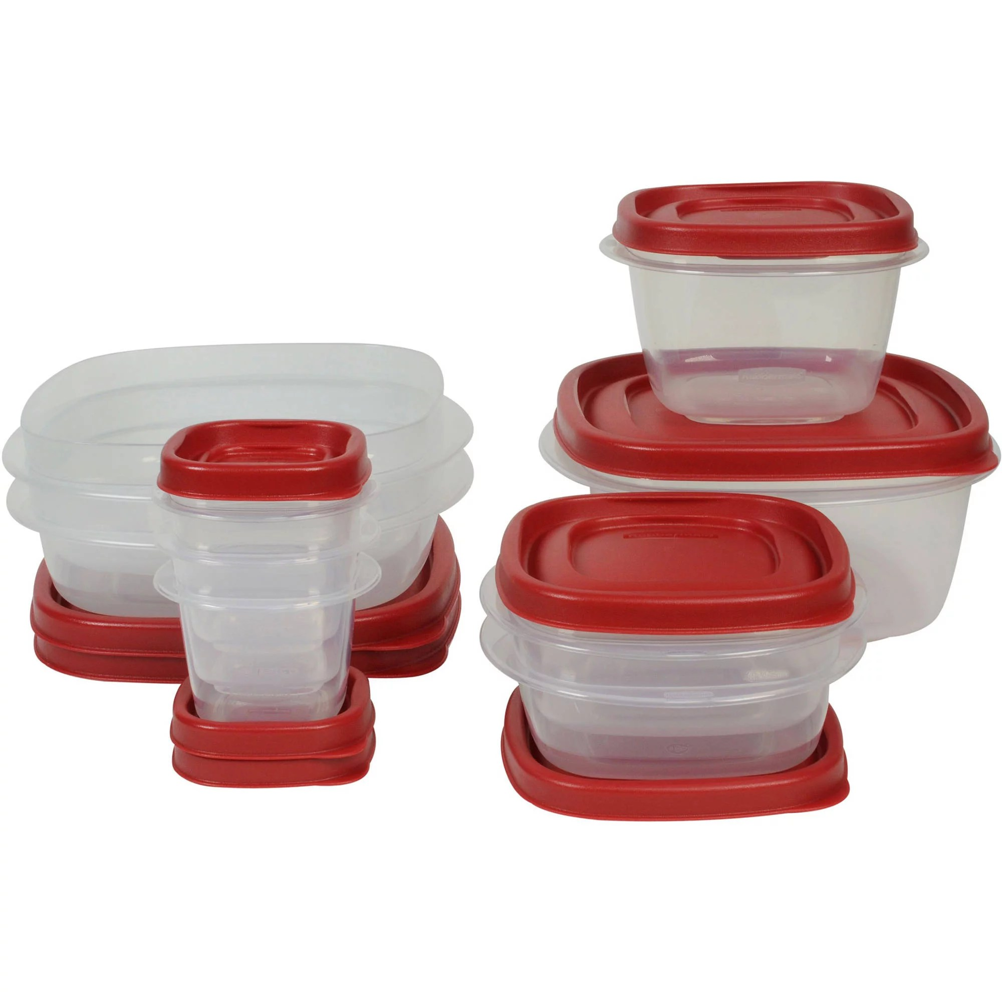 rubbermaid kitchen storage containers sink faucets lowes food with easy find lids 18 piece set walmart com