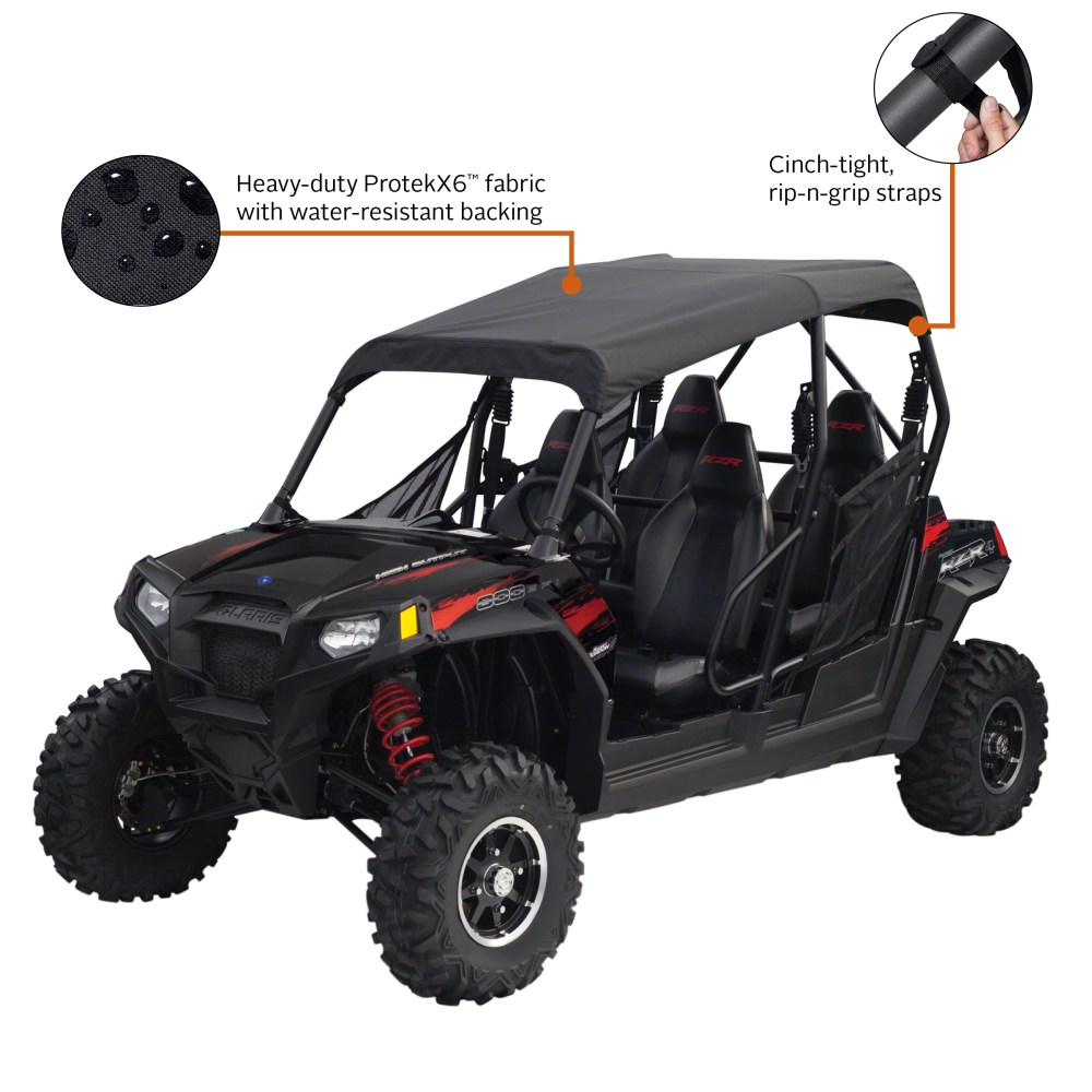 medium resolution of classic accessories quadgear utv roll cage top polaris rzr 4 black walmart com