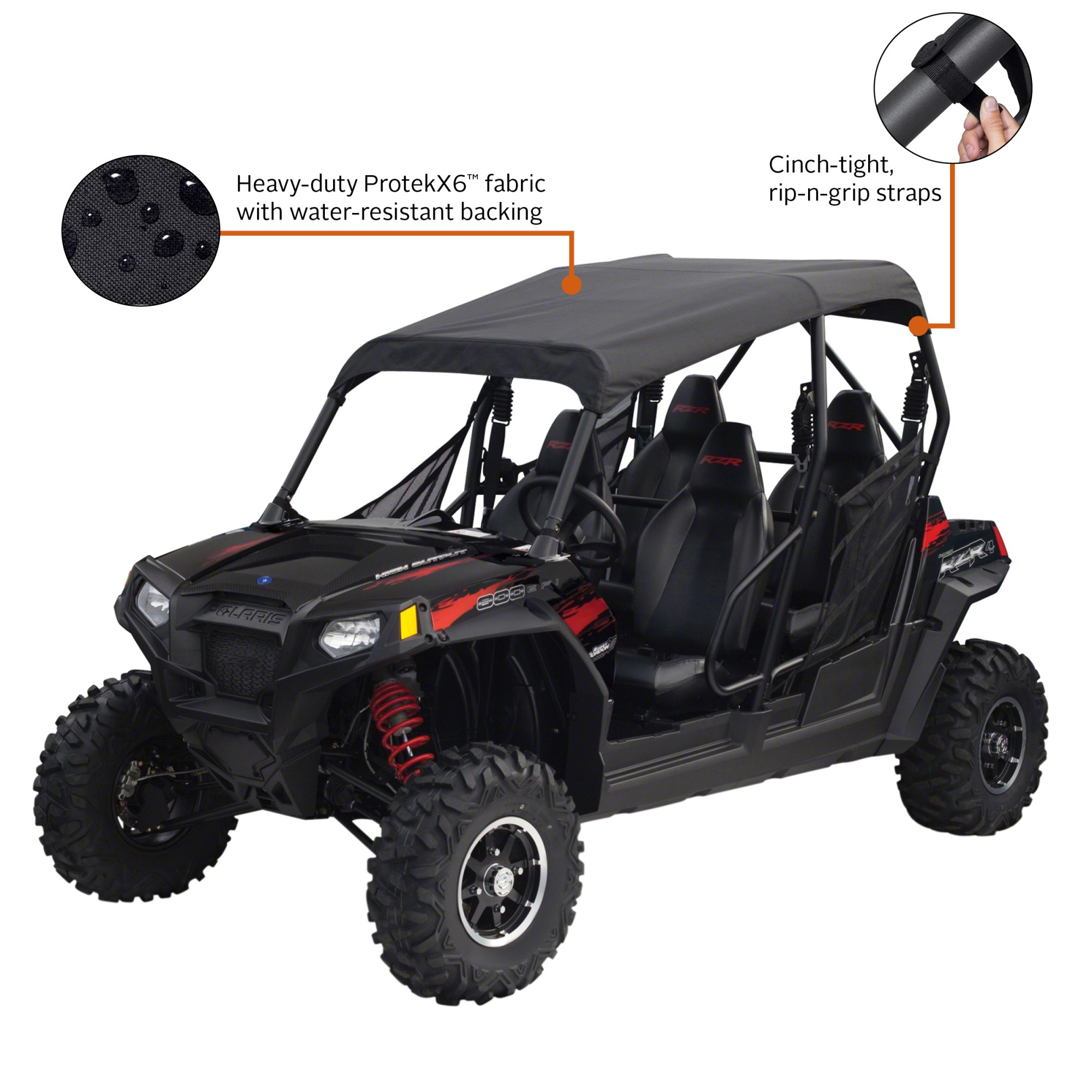 hight resolution of classic accessories quadgear utv roll cage top polaris rzr 4 black walmart com