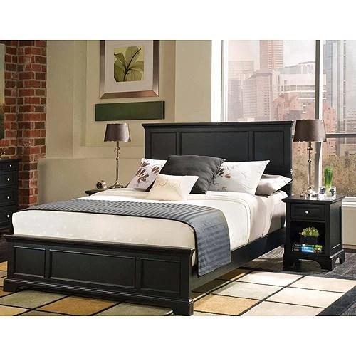 Bedford 2Piece Bedroom Set  FullQueen Headboard Only and Night Stand Ebony  Walmartcom