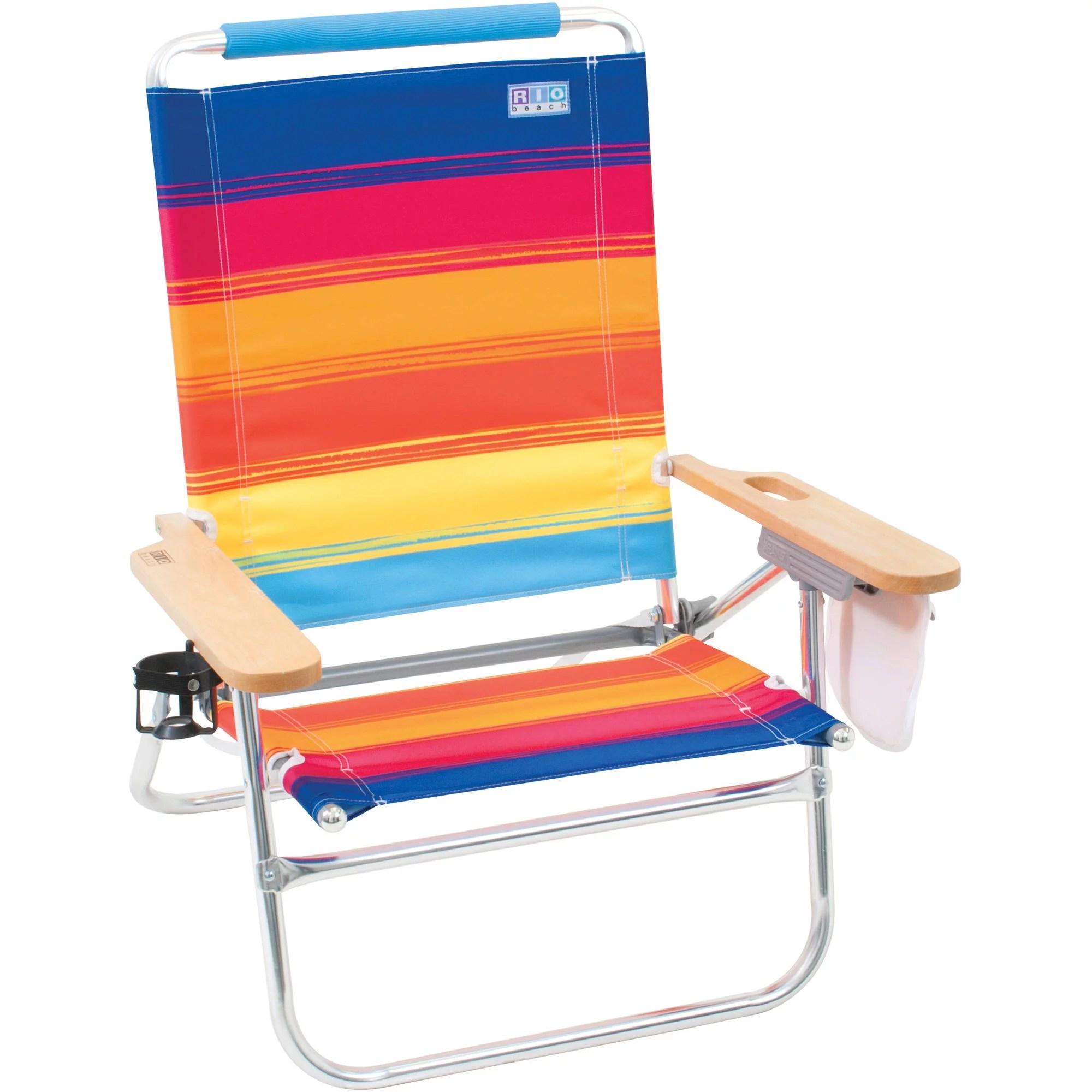 Rio Genuine Beach Bum 4Position Beach Chair  Walmartcom