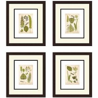 Leaves Botanical Wall Art, Set of 4
