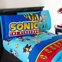 Sonic the Hedgehog Twin Bed Sheet Set, Kids Sheets ...