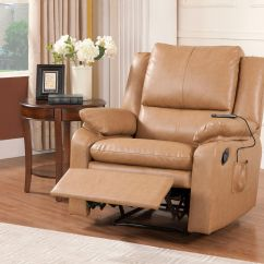Leather Armchair Metal Frame Purple Chair Covers Amazon Light Brown Faux Electric Massage Recliner Lounge Seat