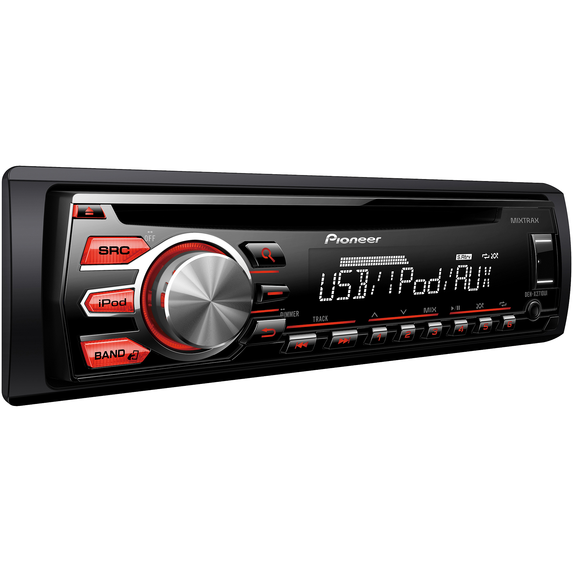 hight resolution of pioneer deh x2710ui single cd receiver with 12 character display walmart com