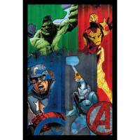 Marvel Avengers Comic Framed 3D Wall Art - Walmart.com