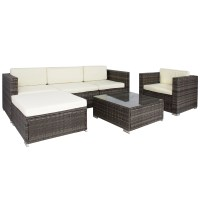 Rattan Sofa Sets 6pc Outdoor Patio Garden Wicker Furniture ...