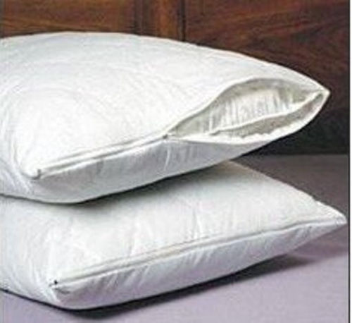 set of 2 new quilted pillow covers with zippers queen size