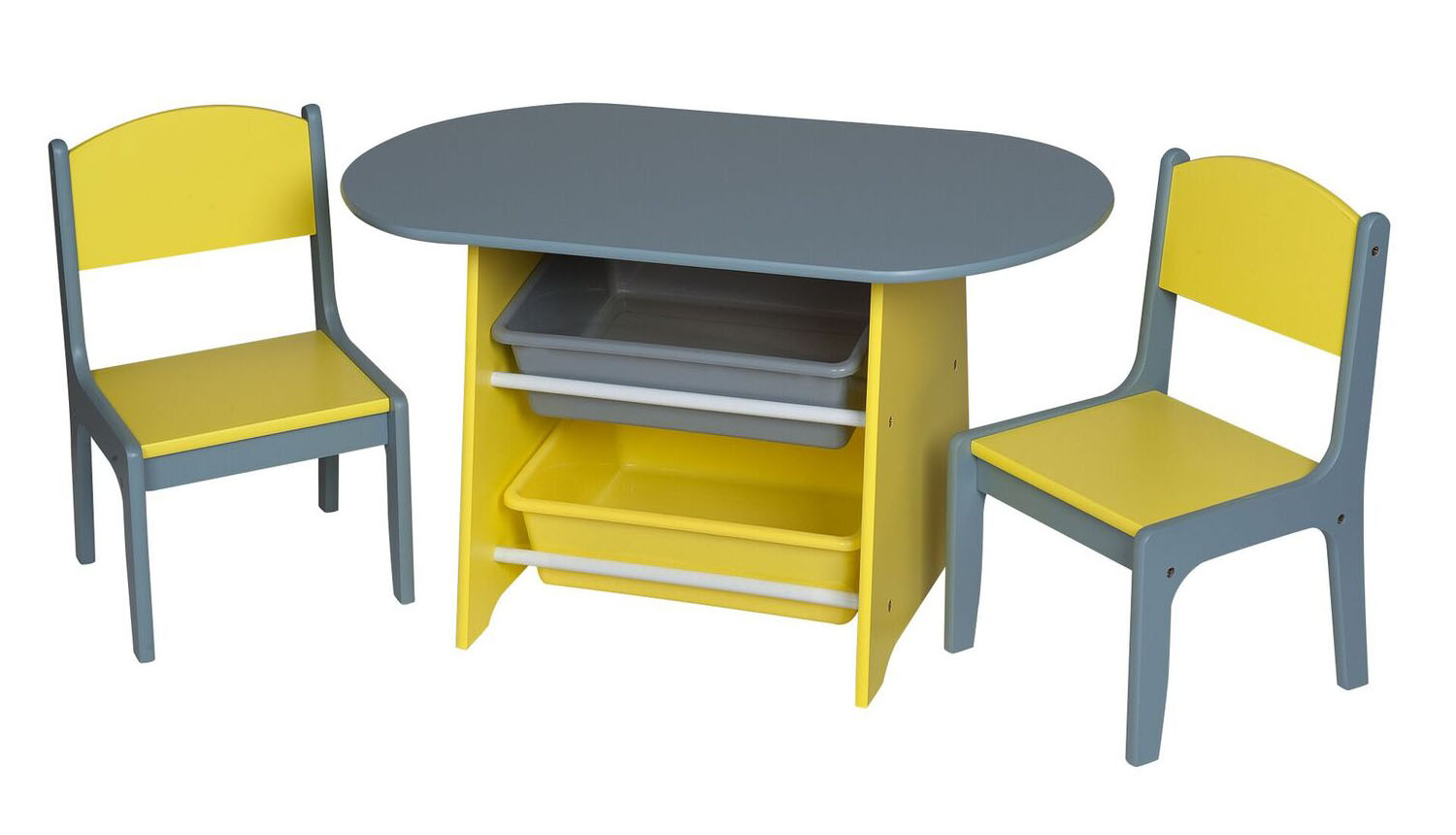 Table With 2 Chairs Gift Mark Children S Oval Table With 2 Chairs And 2 Storage Bins Multiple Colors
