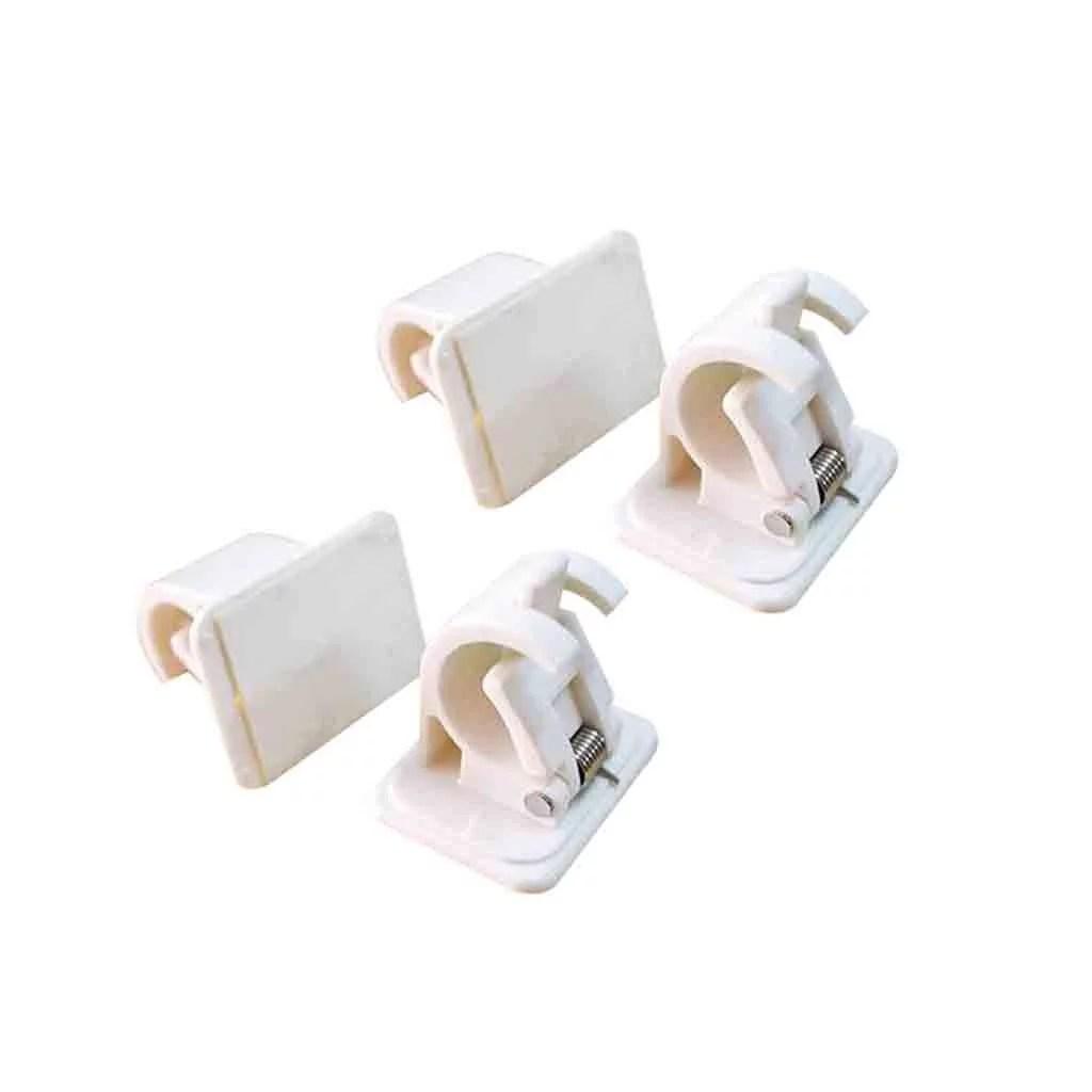 self adhesive hooks curtain rod bracket pole drapery hook holders curtains 4pcs