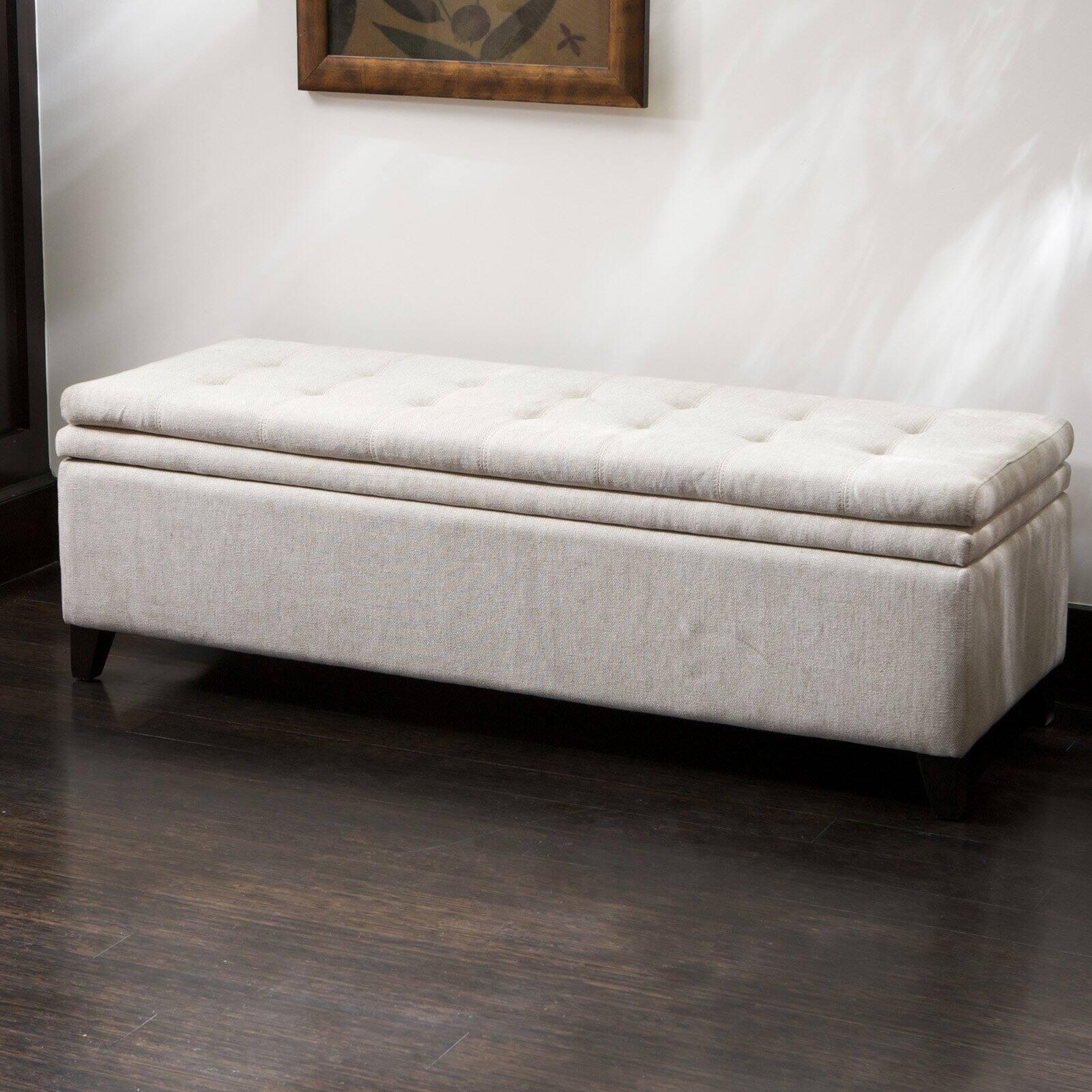 brighton white linen storage ottoman