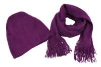 Super Soft Purple Winter Scarf, Hat Set Violet - Walmart.com
