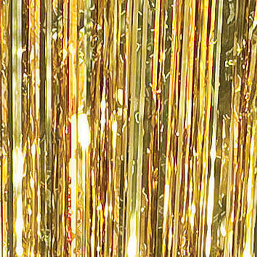 foil curtain gold
