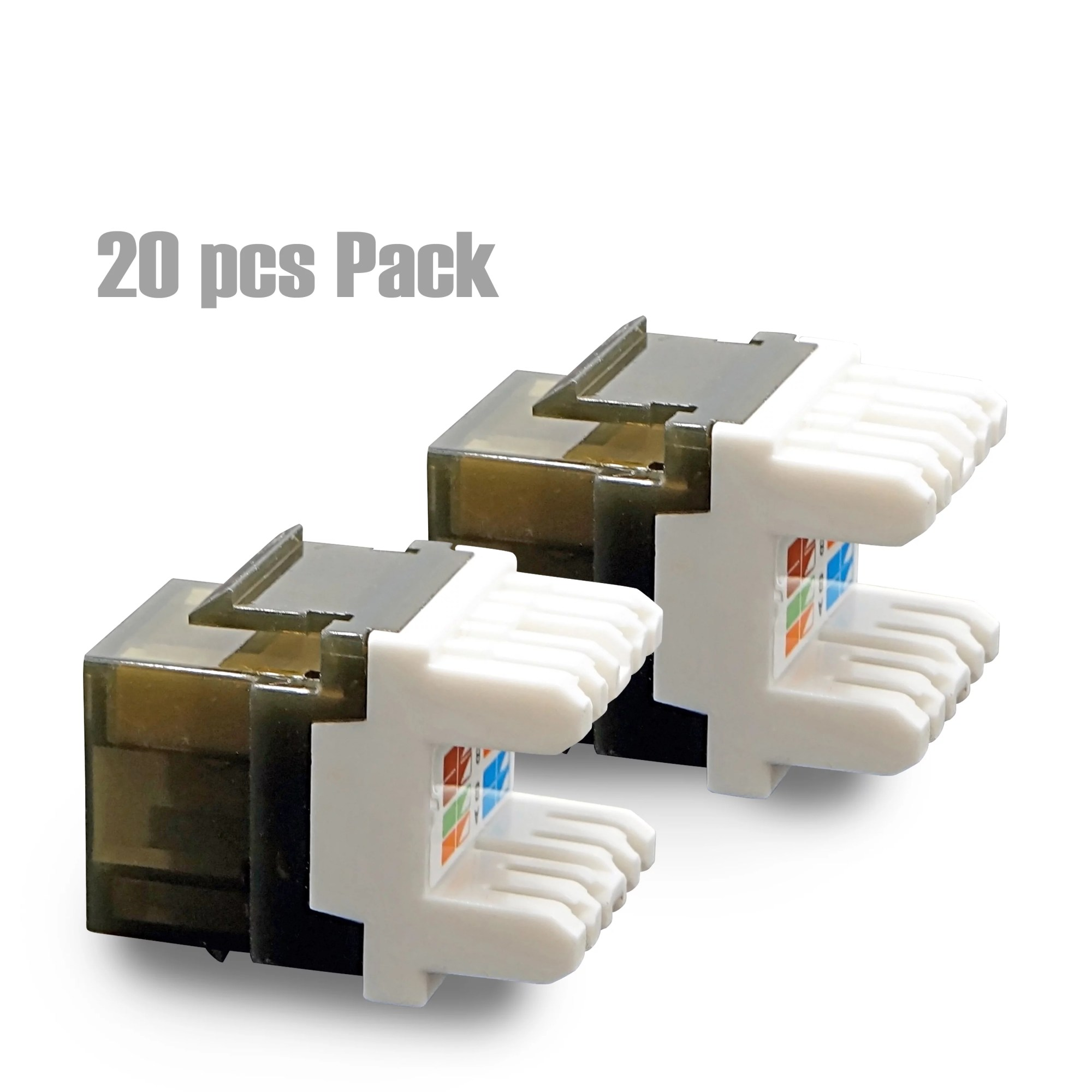 hight resolution of cybertech utp cat 6a cat 6 cat 5e keystone jack with led 20 pack walmart com