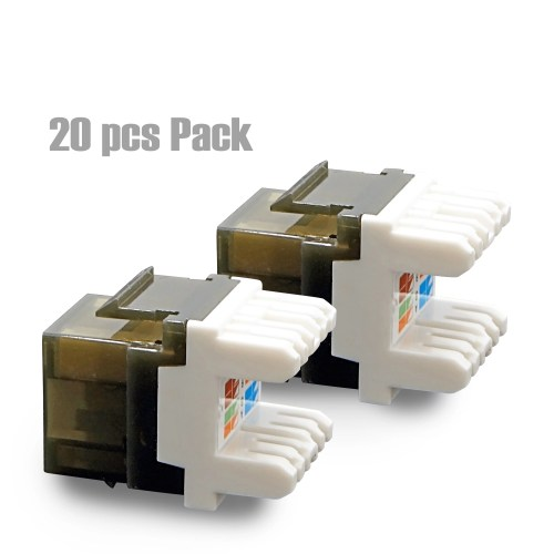 small resolution of cybertech utp cat 6a cat 6 cat 5e keystone jack with led 20 pack walmart com