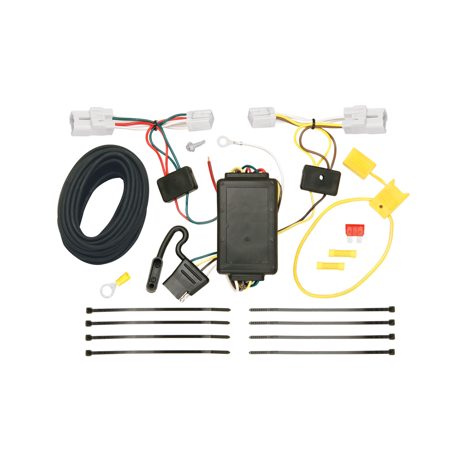 tekonsha 118517 trailer wiring connector t one 4 way flat replacement for oem wiring harness [ 1500 x 1500 Pixel ]