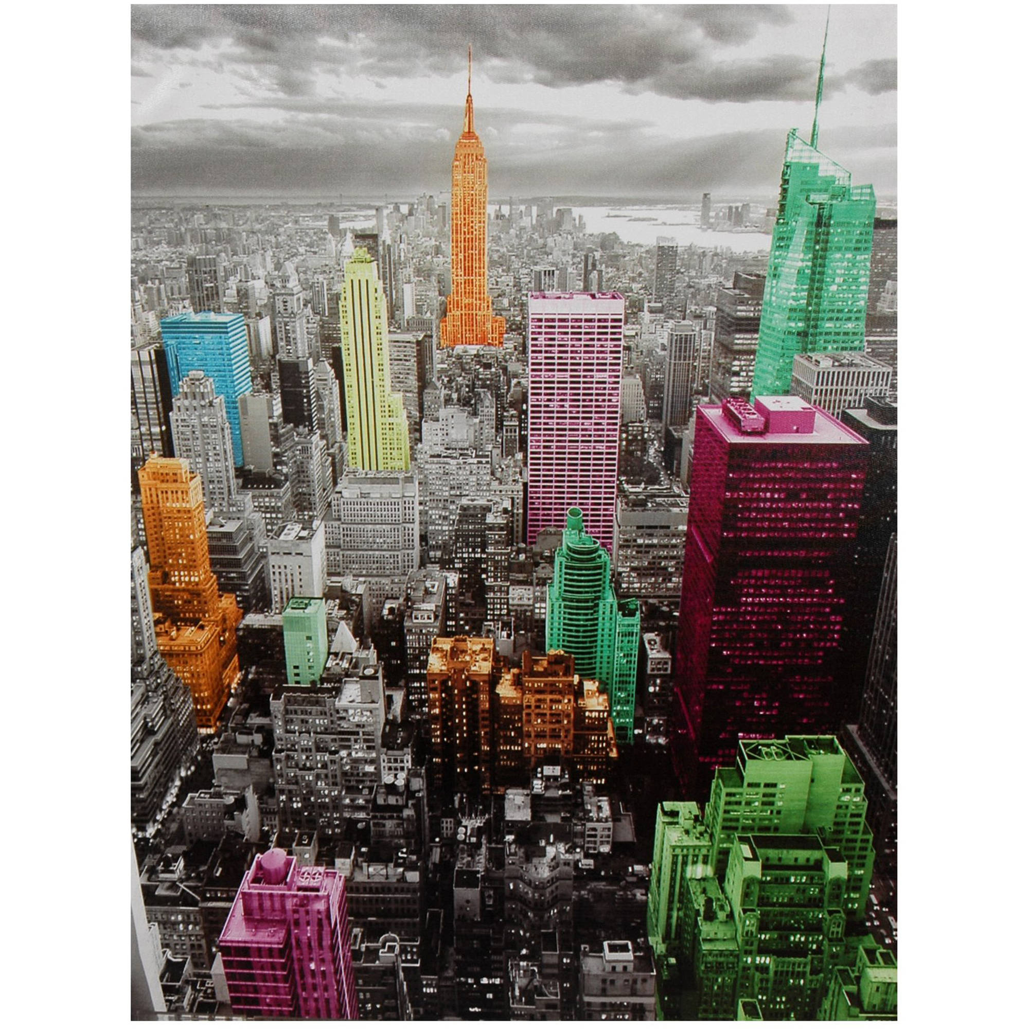 high lights of new york skyline canvas wall art walmart