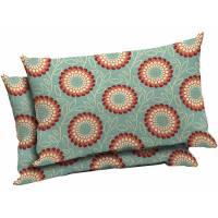 Mainstays Outdoor Patio Lumbar Pillow, Set of 2 - Walmart.com