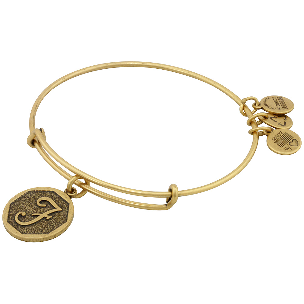 Initial F Charm Bangle Bracelet – A13EB14FG