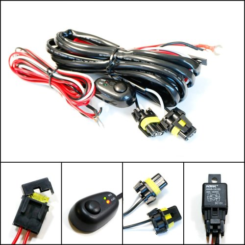 small resolution of ijdmtoy 1 9005 9006 h10 relay harness wire kit with led light on off switch for aftermarket fog lights driving lights hid conversion kit led work lamp