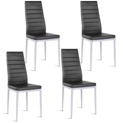 Black Side Chair Norwalk Sofa And Costway Set Of 4 Pu Leather Dining Chairs Elegant Design Home Furniture Walmart Com