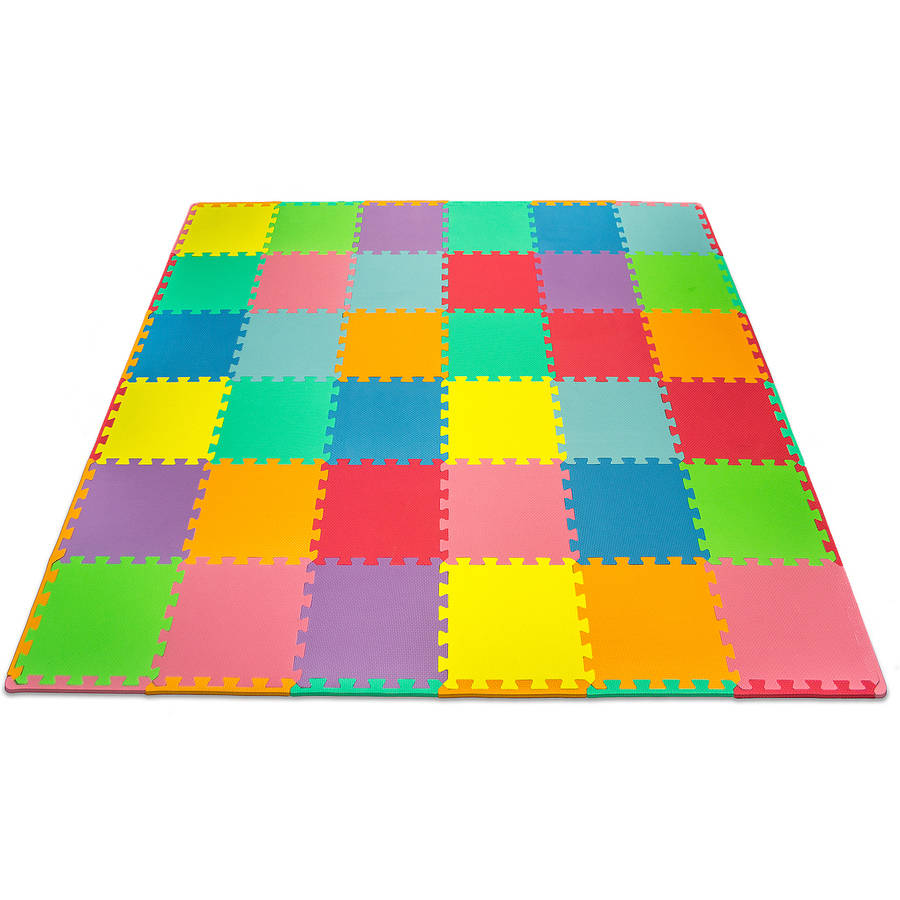 Matney Foam Floor PuzzlePiece Play Mat with Borders