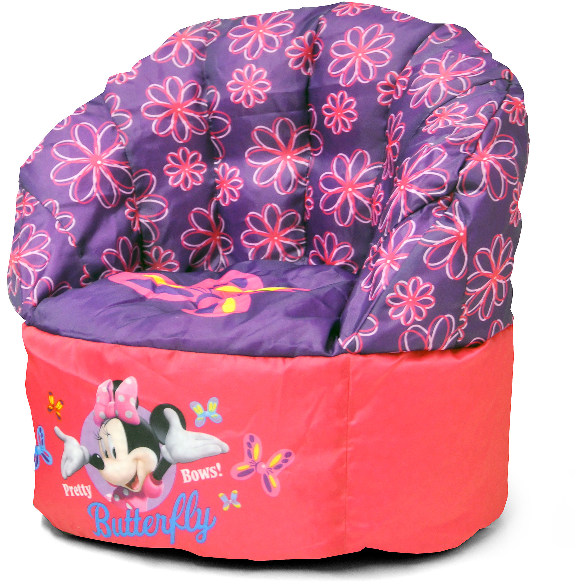mickey mouse clubhouse bean bag chair royal blue spandex folding covers minnie for kids room newlibrarygood