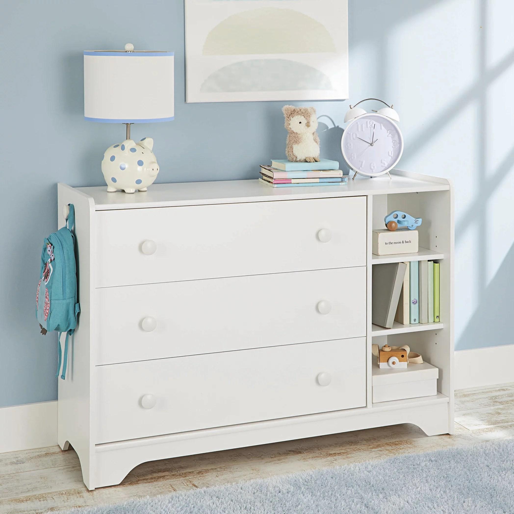 better homes gardens cartwheel 3 drawer dresser white
