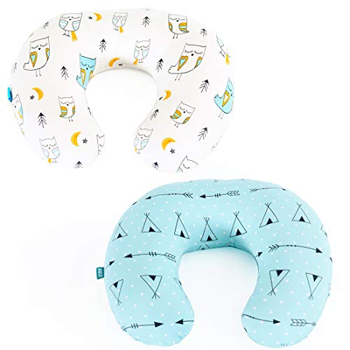 stretchy nursing pillow covers brolex 2 pack snug fitted nursing pillow slipcovers for breastfeeding moms ultra soft breathable for infant nursing