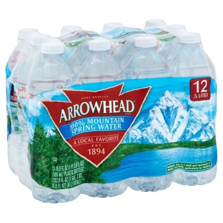 Arrowhead Mountain Spring Water, 16.9 Fl Oz, 12 Count