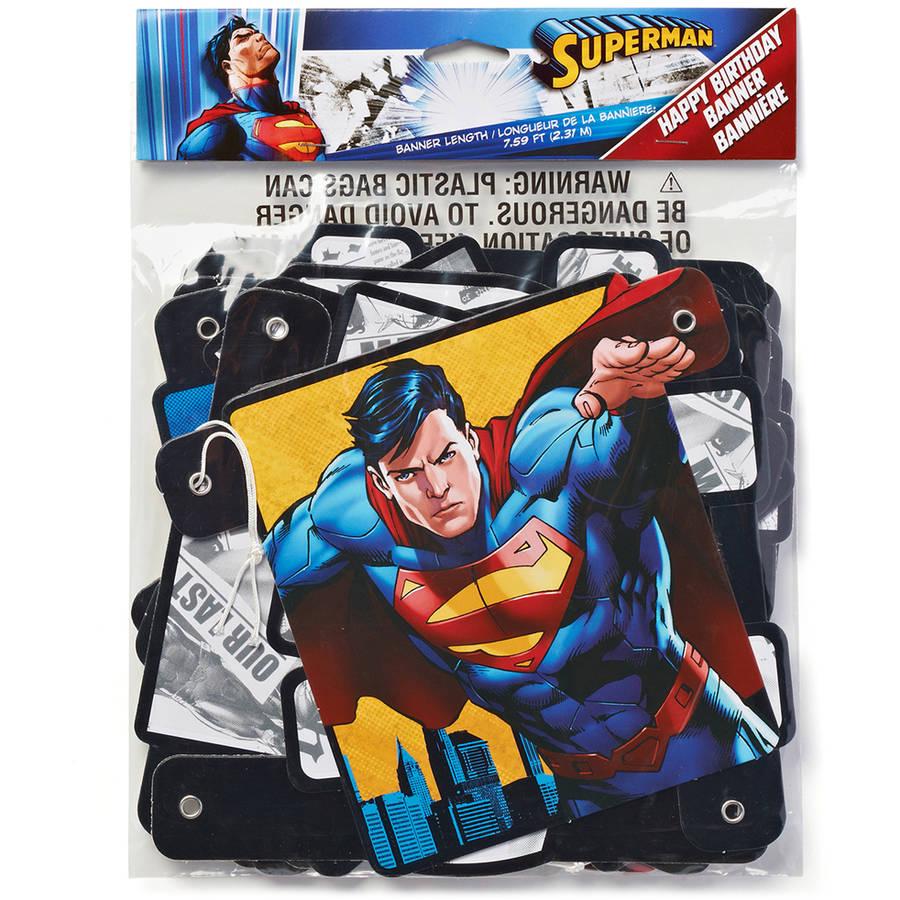 superman birthday party banner