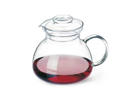 simax glassware 1 5 quart teapot microwave and stovetop safe heat cold and thermal shock resistant borosilicate glass makes a stunning