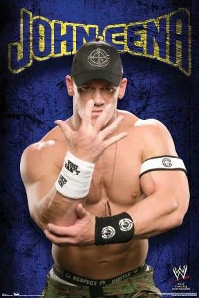 john cena poster wrestling pose wwe new 24x36