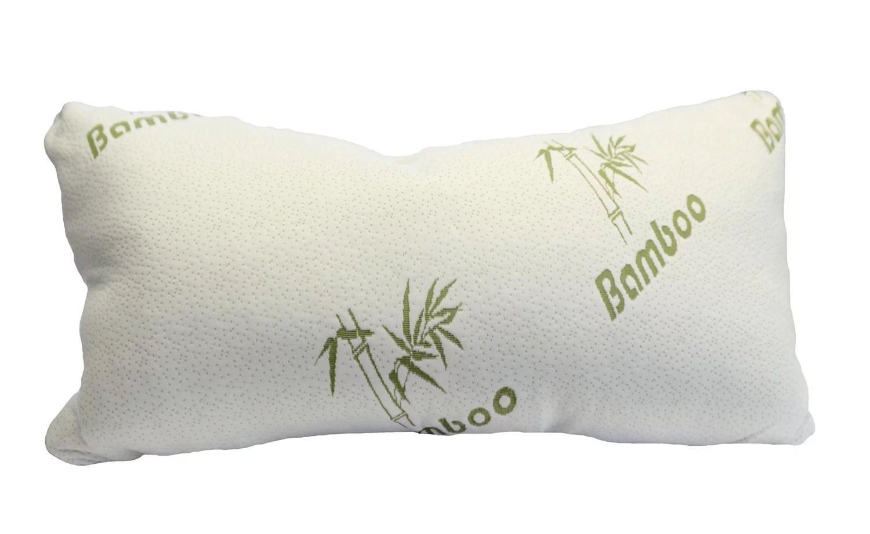 bamboo magic memory foam pillow maximum support for back neck standard