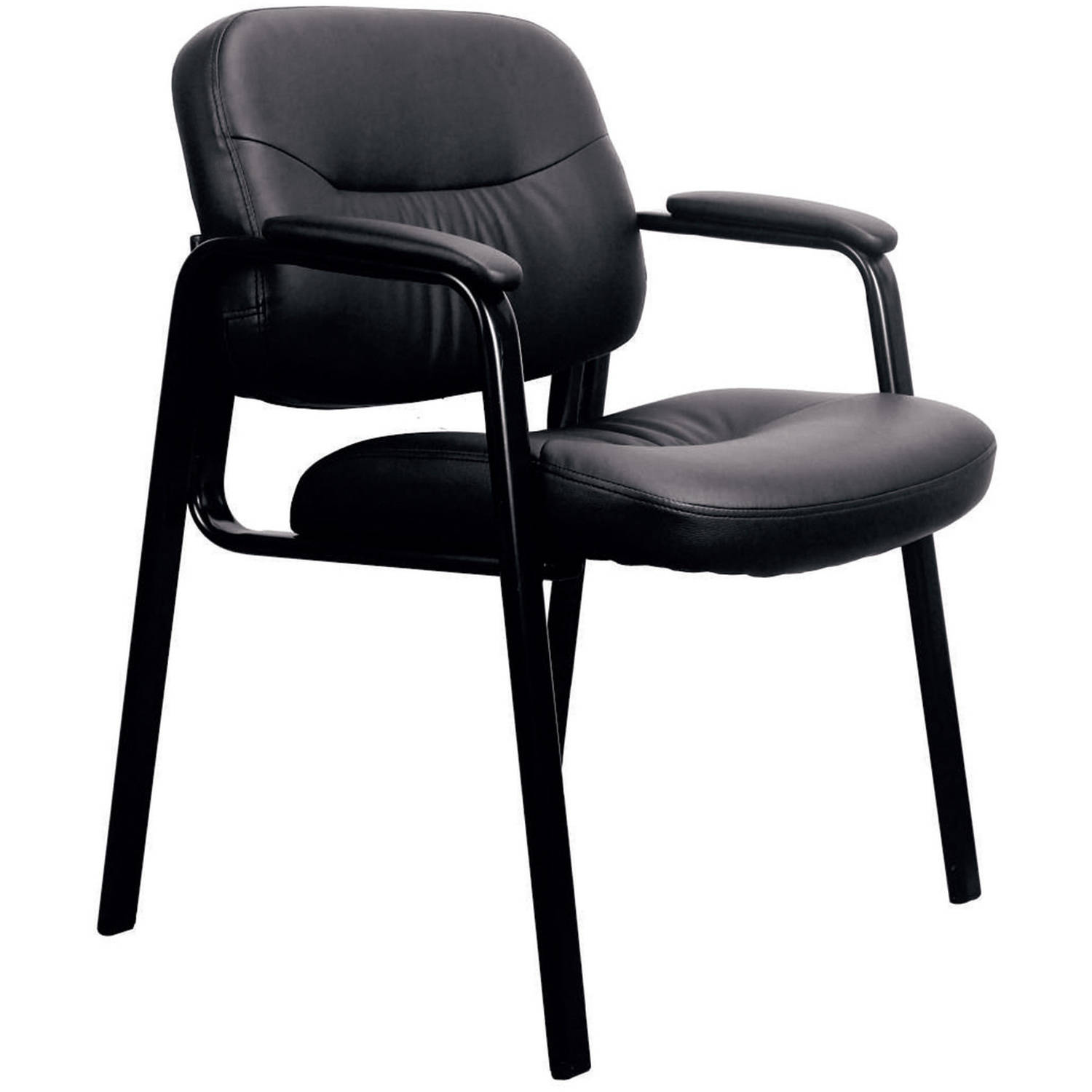 black side chair sure fit dining room covers essentials by ofm ess 9010 leather executive walmart com
