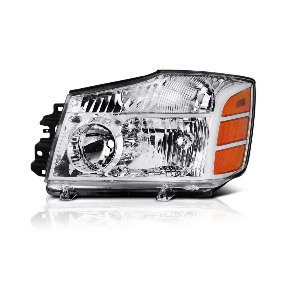 hight resolution of vipmotoz oe style headlight headlamp assembly for 2004 2015 nissan titan 2005 2007 armada walmart com